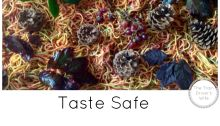 Taste safe autumn fall sensory bin