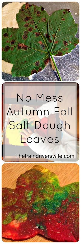 No mess Autumn Fall Salt Dough Leaves