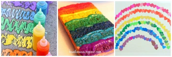 rainbow art collage 4