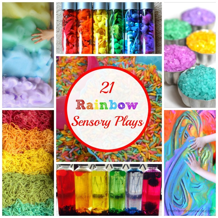 rainbow sensory activities  cover
