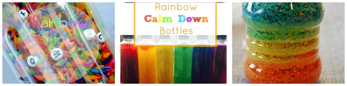 Rainbow Sensory Bottle collage 2