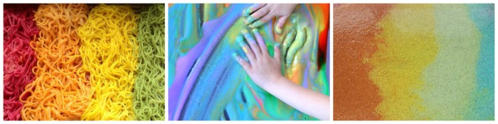 wet sensory bin collage 1