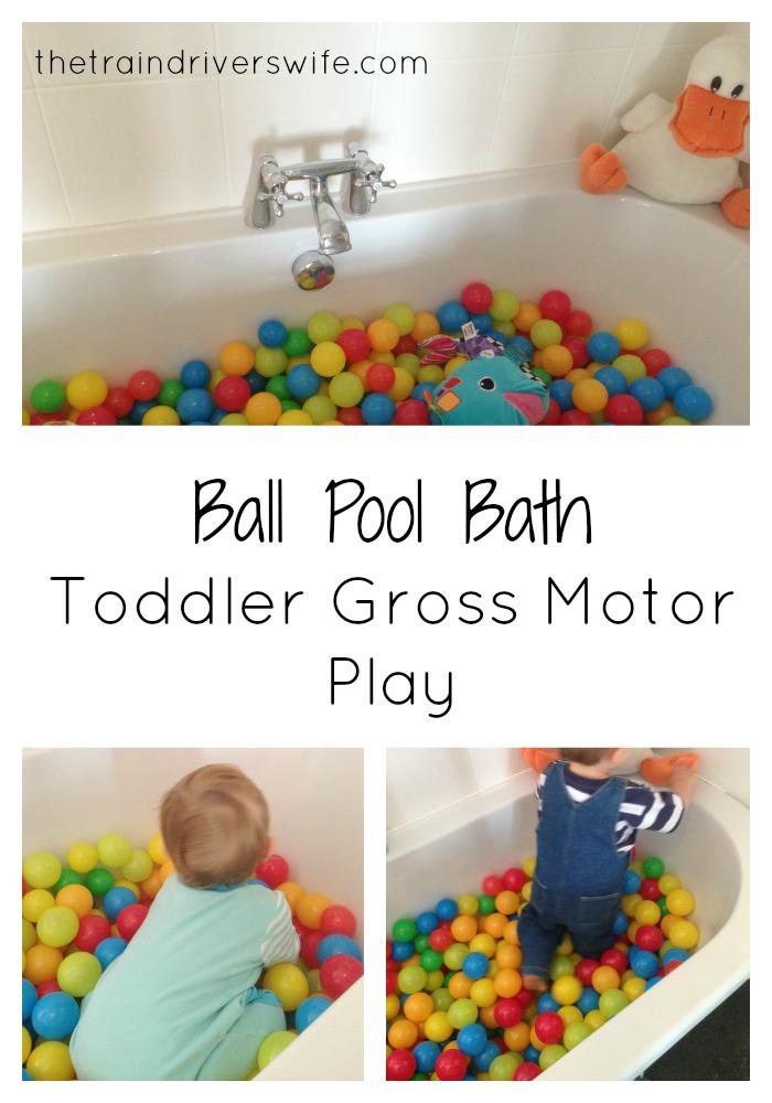 ball pool bath collage