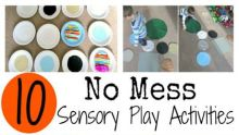 10 no mess sensory play activities 460x260