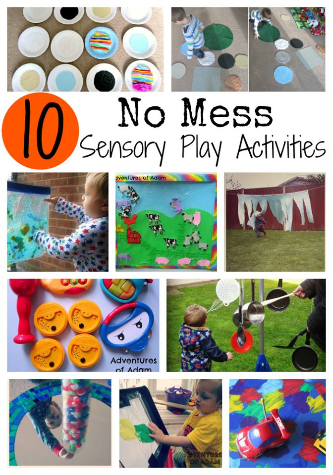 10 no mess sensory play activities