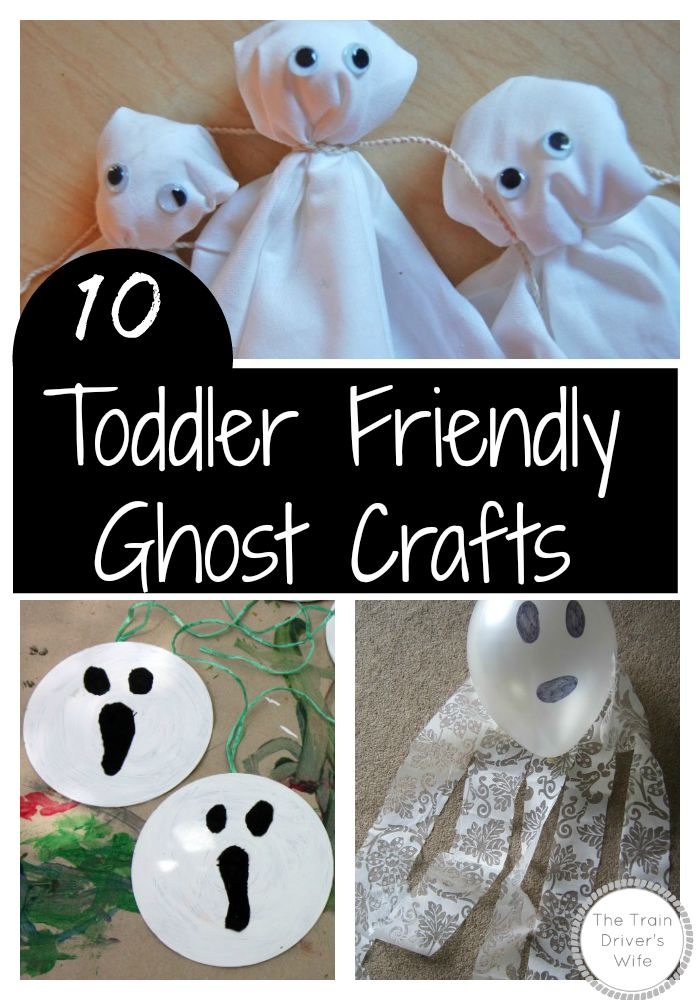Toddler Friendly Ghost Crafts