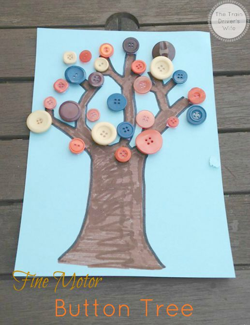 fine motor button tree cover